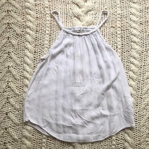White Tank with braided straps